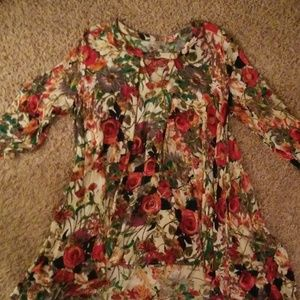 Dressy floral tunic